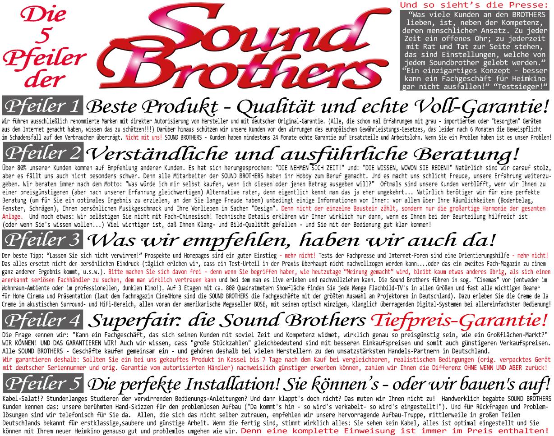 Die 5 Säulen der SOUND BROTHERS