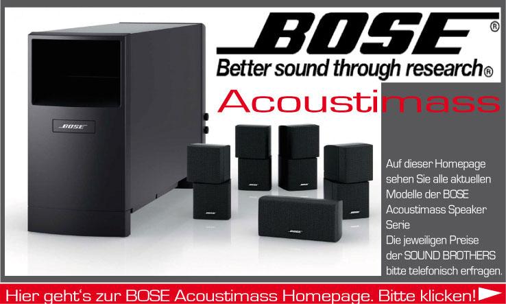 Acoustimass Produkte der Firma BOSE