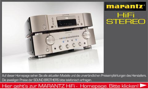 Hifi Produkte der Firma Marantz