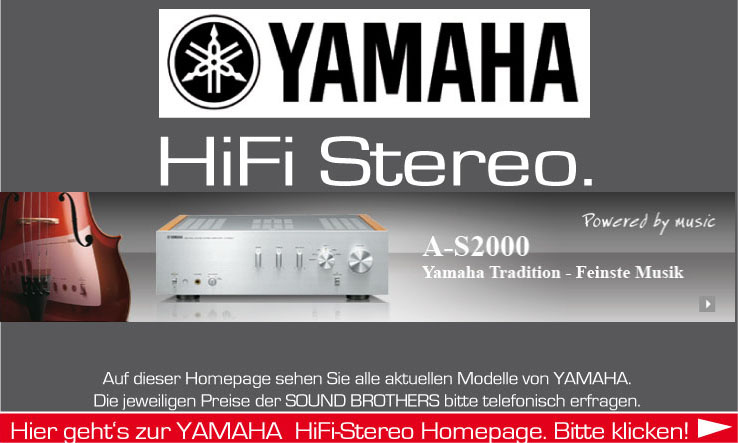 Hifi Produkte der Firma Yamaha